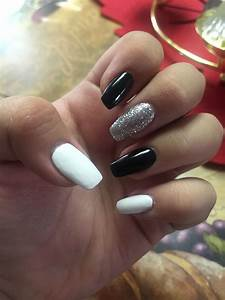 Coffin Nails~black, white, and silver | Naillssssss ...