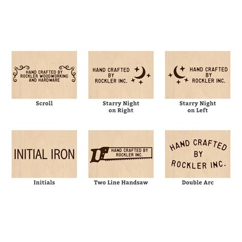 custom branding iron  styles  rockler