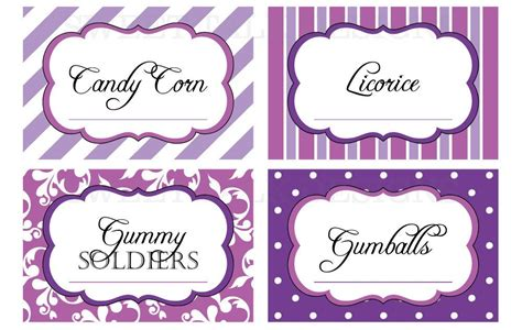 Candy Buffet Sign Free Template