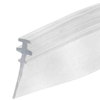 clear shower door vinyl  bottom sweep  seal
