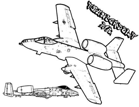 A 10 Warthog Coloring Pages Warthog Airplane Free Coloring Pages