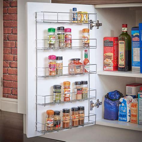 tier wall mounted spice herb jar rack holder  kitchen door cupboard storage ebay
