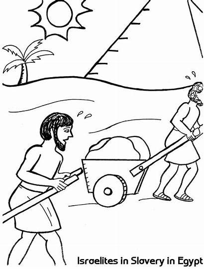 Coloring Egypt Israelites Slavery Slave Sheet Bricks