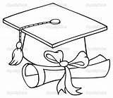 Graduation Cap Draw Cards Drawing Grad Coloring Pages Parties Google sketch template