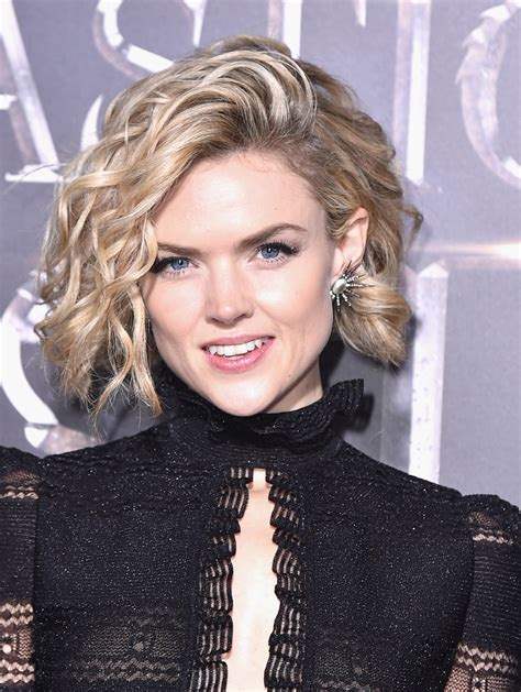 erin richards curled  bob short hairstyles lookbook