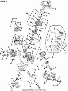 Homelite 51948 25 4 Cc Gas Power Head S  N 314000001  U0026 Up Parts Diagram For Figure B