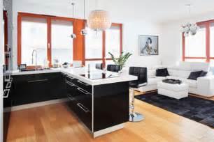 wohnküche einrichten wohnküche in schwarz weiß roomido
