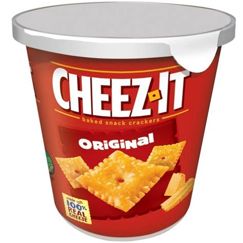 cheez  original baked snack crackers mini cup oz