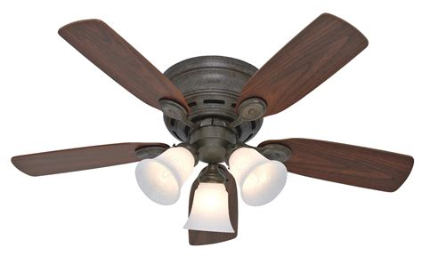 hunter 42 quot low profile plus ceiling fan 23849 in