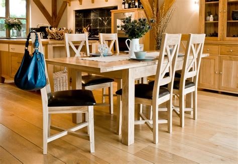 new forest solid oak large extending dining table 6 new