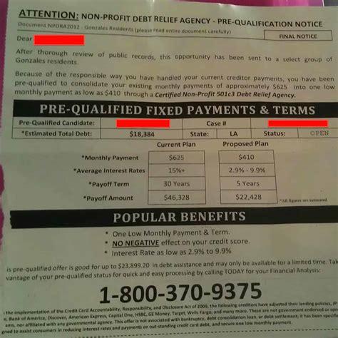 profit credit counselors    bogus debt