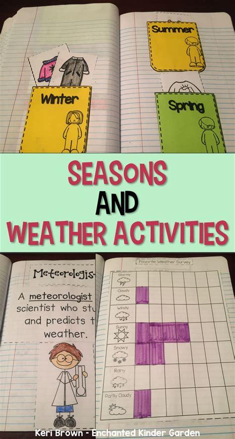 kindergarten interactive science notebook theme seasons
