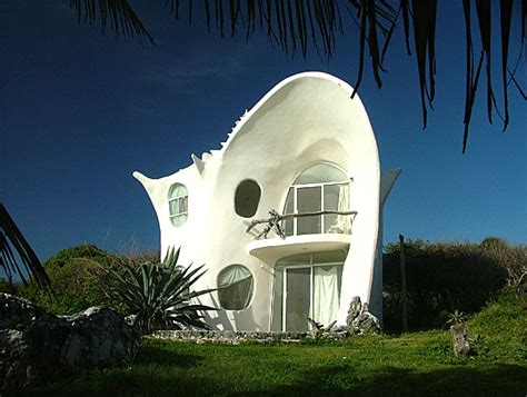 Amazing Conch Shell House In Isla Mujeres, Mexico