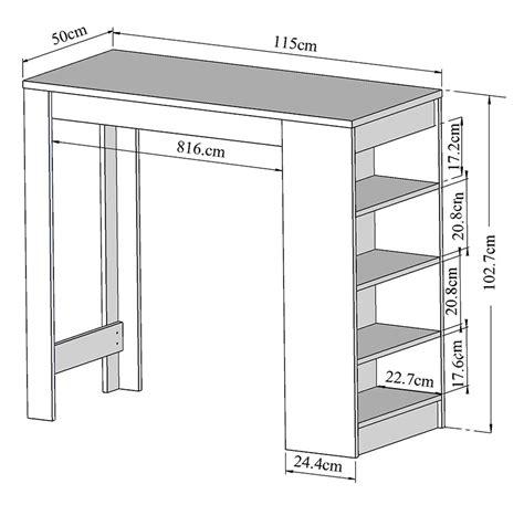 dimension table cuisine symbiosis table de bar avec rangement table de bar