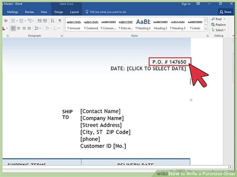 purchase order template microsoft word toreto co
