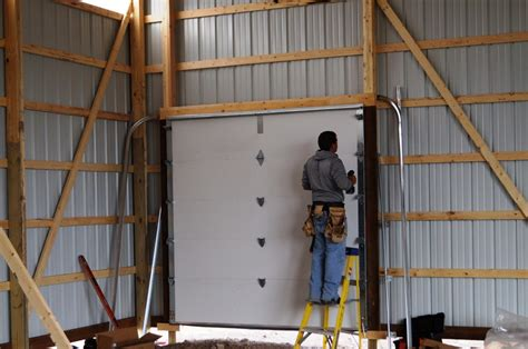 pole barn installation pole barn garage door install geekgorgeous