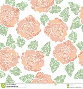 Seamless Background Pattern Of Rose Flower Stock Vector ...