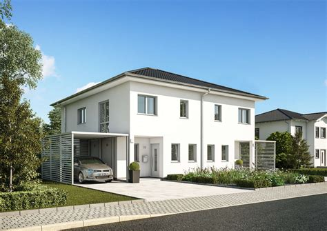 Haus Bauen by Doppelhaus Linus Gemeinsames Dach