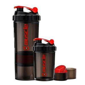 Protein Powder Shaker Water Bottle Sport Fitness gym