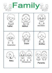 english worksheets  family worksheets page