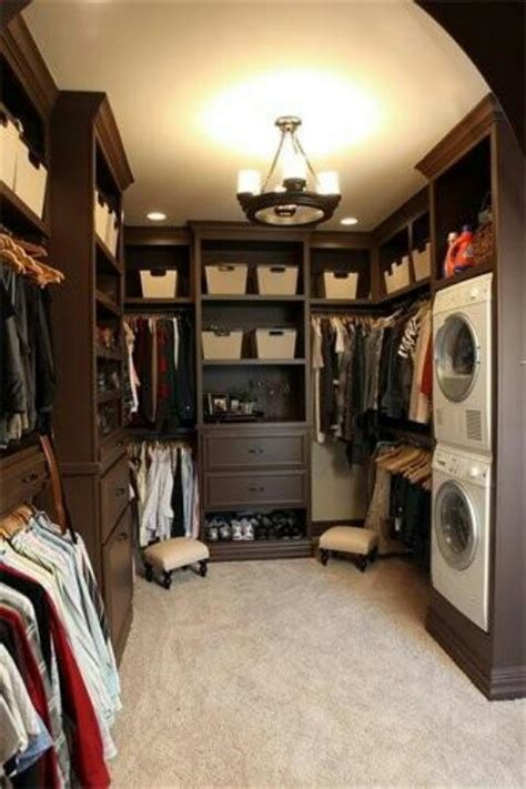 idea laundry room walk in closet combo most of my