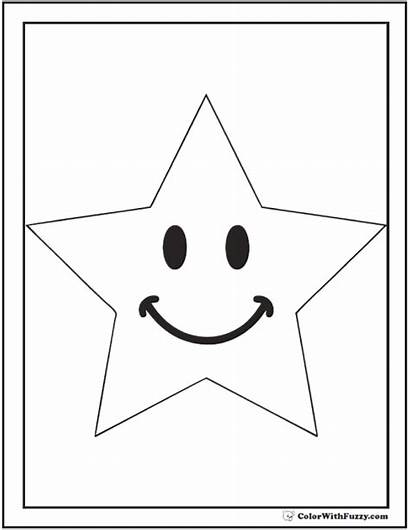 Coloring Star Pages Kindergarten Pdf Printable Student