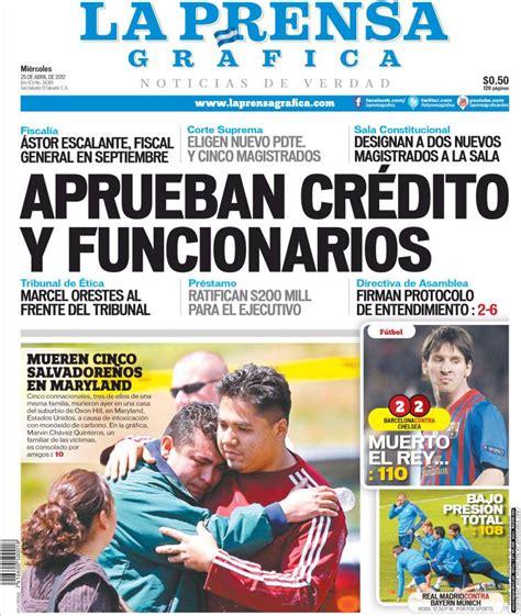 Periódico La Prensa Gráfica (El Salvador). Periódicos de ...