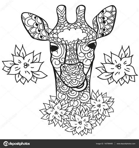 Giraffe Peuter Kleurplaat by Giraf In Doodle Stylee Kleurplaat Pagina Antistress Voor