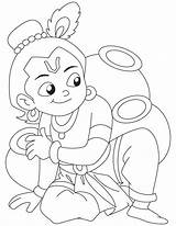Krishna Coloring Pages Shri Lord Milk Drawing Easy Radha Painting Colouring Sketches Drawings Outline Sketch Bal Cartoon Ka Bestcoloringpages Bana sketch template