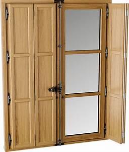 volet interieur bois traditionnel sur mesure bremaud With volet battant interieur en bois