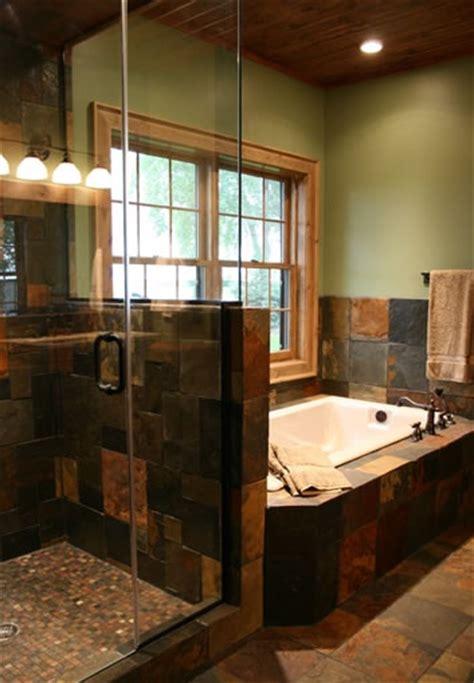 Slate Bathroom Ideas by Slate Tile Bathroom Slate Tile In Bath Master Bath
