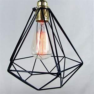 Diamond cage pendant light by unique s co