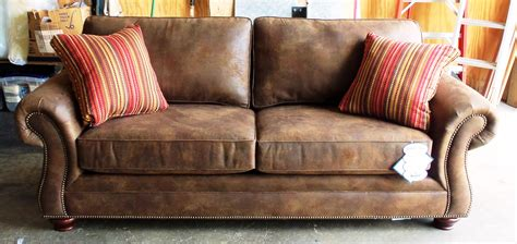 Broyhill Laramie Microfiber Sofa In Distressed Brown by Brown Leather Bomber Jacket Newhairstylesformen2014