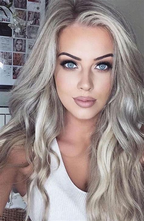 Gray hair color ideas 2018 2019 : Long Hair Tutorial