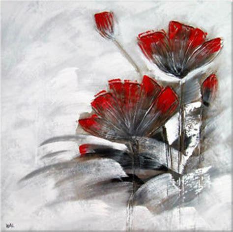 peinture moderne abstraite fleurs ebay