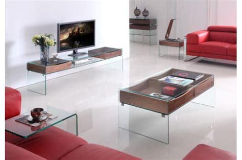 meuble tele en verre meuble t 233 l 233 glasgow en verre et bois meuble tv pas cher