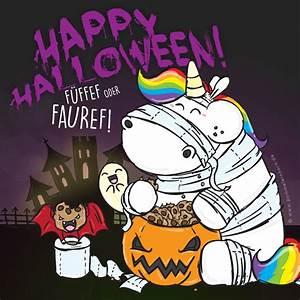 Lustige Halloween Sprüche : happy halloween pummeleinhorn a a a a pummel einhorn pummel einhorn einhorn spr che und ~ Frokenaadalensverden.com Haus und Dekorationen