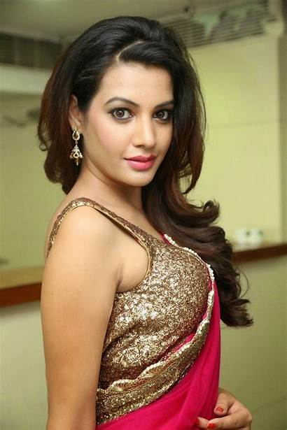 Diksha Panth Saree Actress Half Navel Spicy