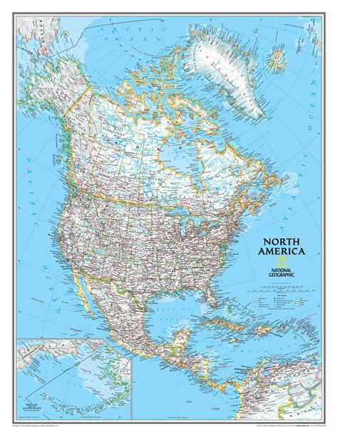 National Geographic North America Wall Map Mapscom