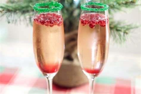christmas chagne cocktail recipe cooking with janica