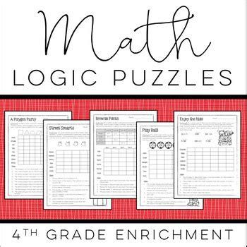 math logic puzzles 4th grade enrichment by howe
