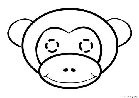 coloriage tete de singe facile jecolorie