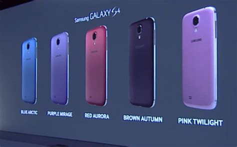 samsung galaxy s4 now available in seven different colours