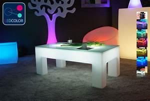 Table Basse Galet Led : table basse lumineuse led multicolore sans fil classico ~ Melissatoandfro.com Idées de Décoration
