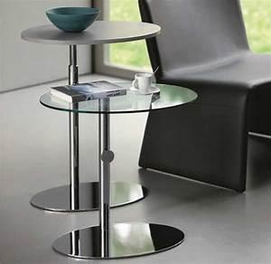 Beistelltisch Glas Edelstahl : beistelltisch glas h henverstellbar funktionale m bel mit moderne stil lapazca ~ Indierocktalk.com Haus und Dekorationen