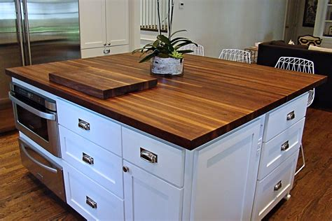 walnut countertop walnut edge grain wood island top