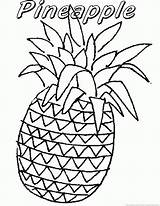 Coloring Pineapple Guava Template Fruit 123coloringpages Printable Kiwi sketch template