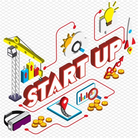 Free Vector   Illustration of startup concept in isometric ...