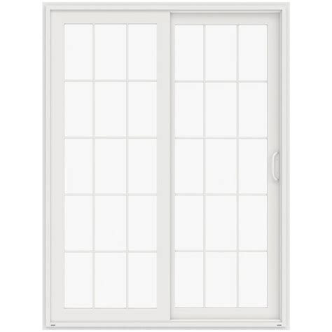 jeld wen 72 in x 96 in v 4500 white prehung left