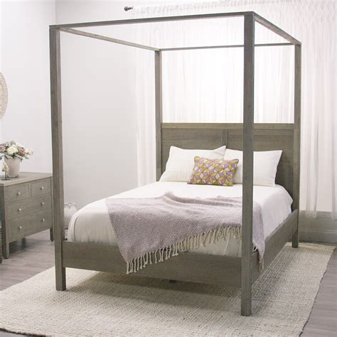 canapé beddinge gray marlon canopy bed rustic elegance canopy and